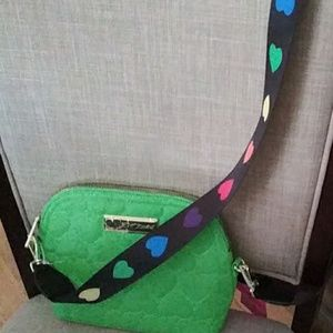 Betsey Johnson cross body heart strap bag